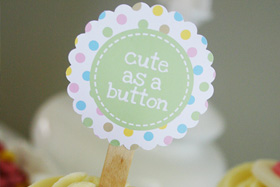 Cute as a button printables from Sweet Scarlet Designs