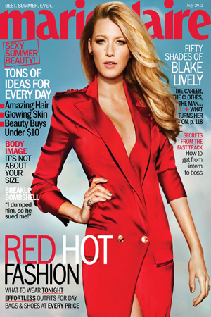 Blake Lively sizzles on Marie Claire cover