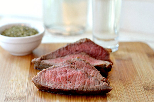 Bakon vodka marinated steak