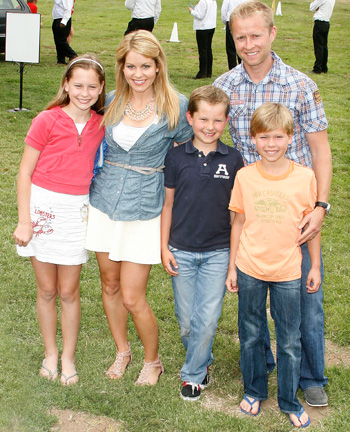 Candace Cameron Bure and husband Val and kids