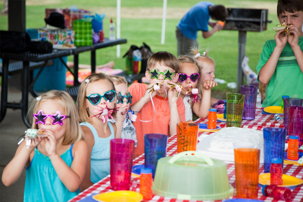 Outdoor birthday party for kids