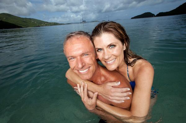 couple on romantic vacation