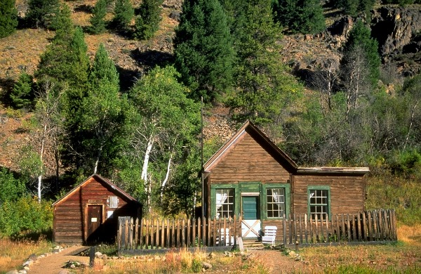 Custer historic mining town