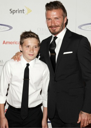 David Beckham and his son Brooklyn