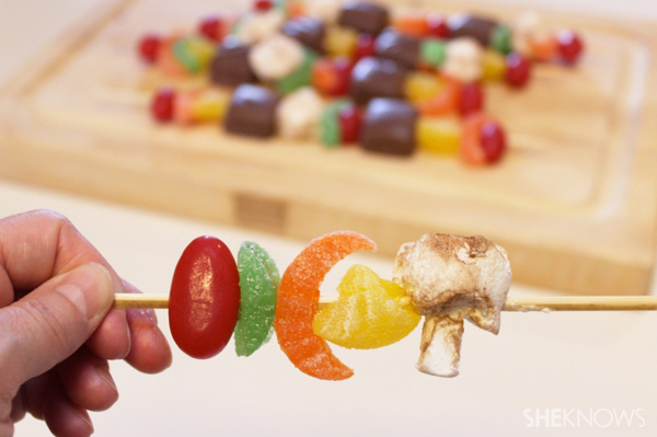 Candy kekbabs -- Skewer