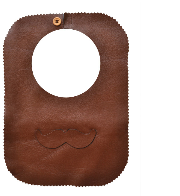 DIY Moustache bib