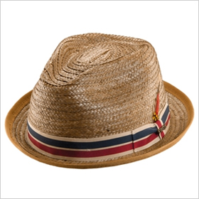 brown straw fedora
