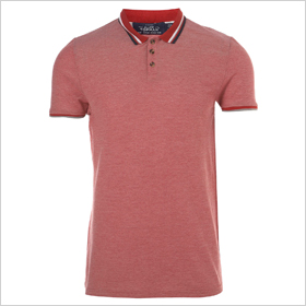 red multi tipped polo