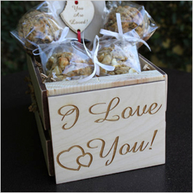 Coyote Oaties I Love You Crate of Gourmet Cookies ($43)