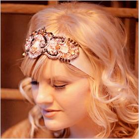 flapper girl style headband