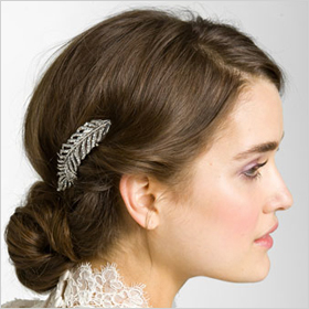 Tasha 'Feather' crystal clip,