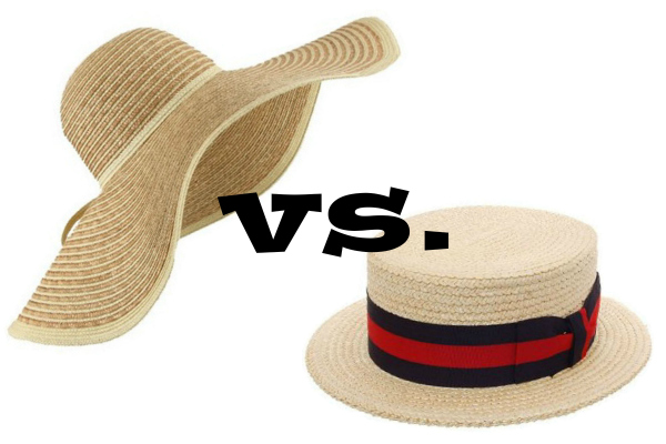 floppy hat vs boat hat