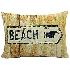 beach sign decorative pillow from JC Penney