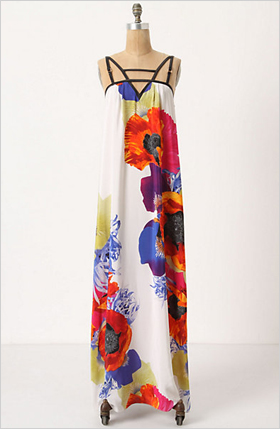silk, floral print maxi