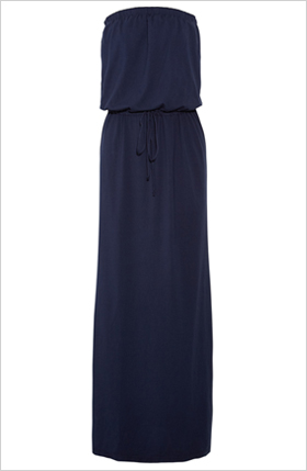 cotton blend jersey maxi dress 