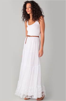 white maxi dress