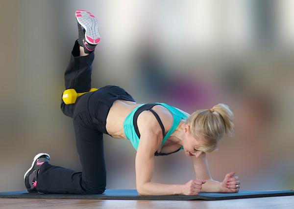 Quadraped hip extensions (bent leg raises)