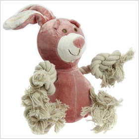 SimplyFido Petite Lucy Pink Bunny Rope toy