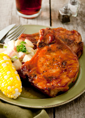 Grilled Teriyaki Marinated Pork Chops