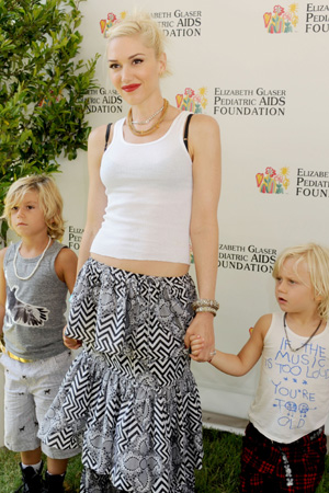 Gwen Stefani and kids Kingston and Zuma