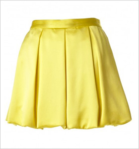 pleated bubble skirt