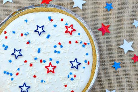 Fourth of July ice cream pie