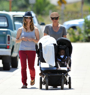 Jillian Michaels, her partner Heidi and kids