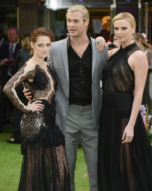 Kristen Stewart, Charlize Theron and Chris Hemsworth