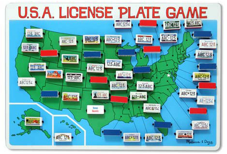 travel version of license plate game
