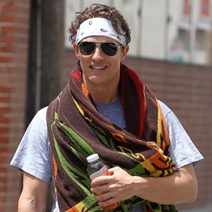 Matthew McConaughey working out