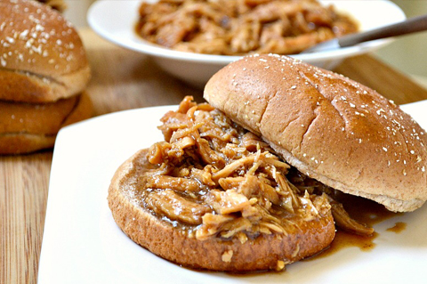 Chicken barbecue sandwiches