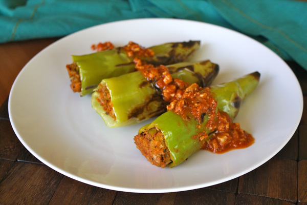 Stuffed and Grilled Hungarian Peppers