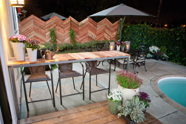 Design Star season 7, episode 4: Chevron fence designed by Britany Simon and Stanley Palmieri