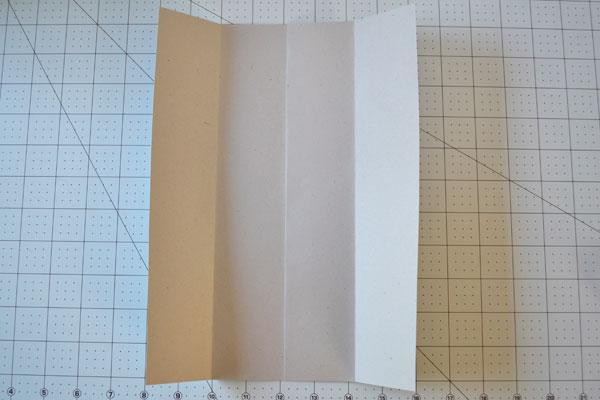 Dia dos Pais cartão camisa: Criando dobras verticais
