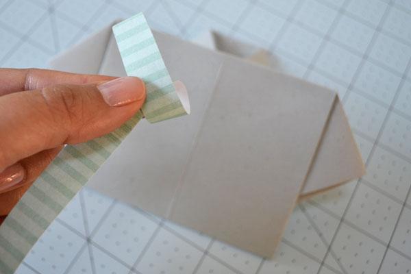 Dia dos Pais cartão camisa: papel Loop para fazer um laço