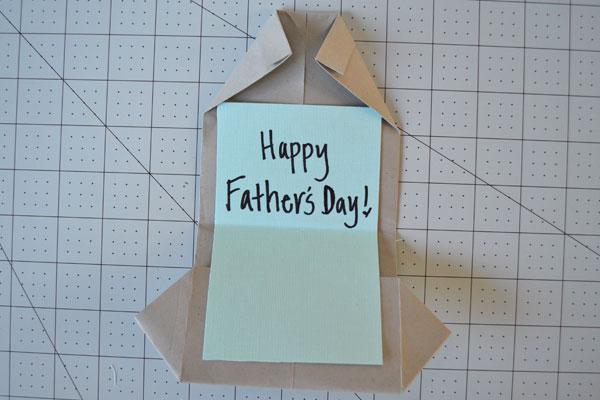 Dia dos Pais cartão shirt: Adicionar mensagem pessoal