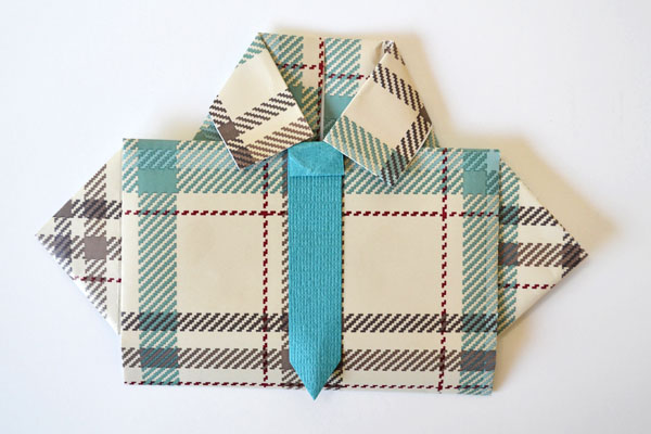 Father's Day shirt card: Plaid shirt