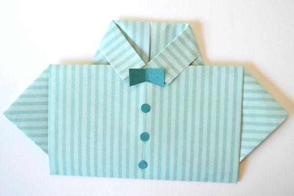Dia dos Pais cartão camisa: Bowtie e botões