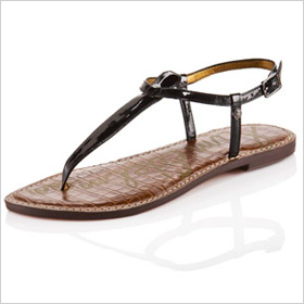 Patent Leather Thongs