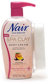 Nair Brazilian Spa Clay Shower Power Hair Removal Cream, $10.19 at drugstore.com