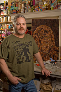 Jason Mecier and Sasquatch mosaic