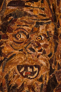 Sasquatch mosaic close up