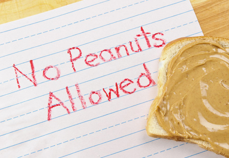 Peanuts don't panic parents as much as milk and eggs