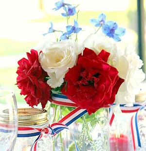 Bold floral centerpiece