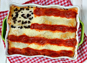 Flag lasagna