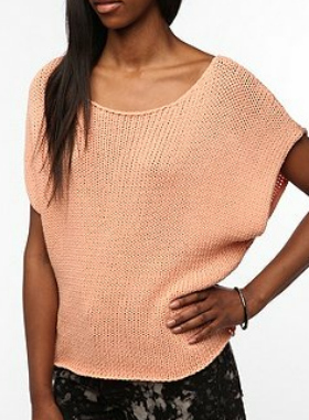 peach crochet top
