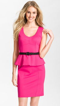Our pick: Nanette Lepore Peplum Dress, (Nordstrom, $298)