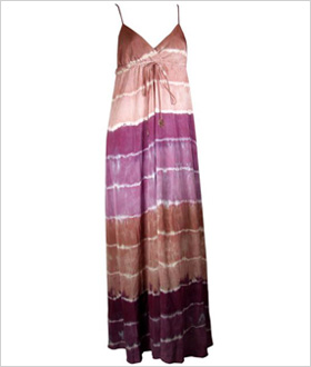boho-chic silk maxi dress