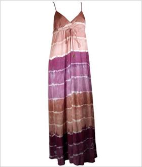 boho-chic silk maxi dress