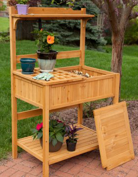 fir wood potting bench 